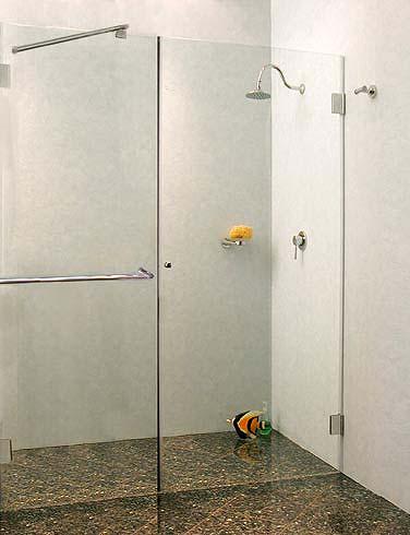 duschabtrennung f r nische klarglas chrom h 195cm combia b1x. Black Bedroom Furniture Sets. Home Design Ideas