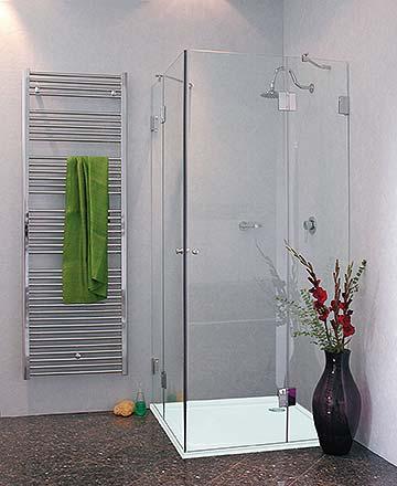 eck dusche mit 2 t ren duschkabine mit duschwanne klarglas chrom h 195cm combia a2e sl9080. Black Bedroom Furniture Sets. Home Design Ideas