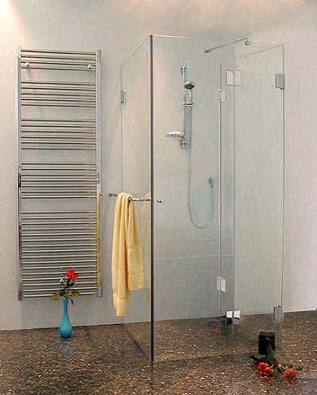 Dusche u form for Duschkabine dachschrage