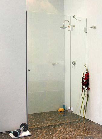 duschabtrennung f r nische klarglas chrom h 195cm combia bxn. Black Bedroom Furniture Sets. Home Design Ideas