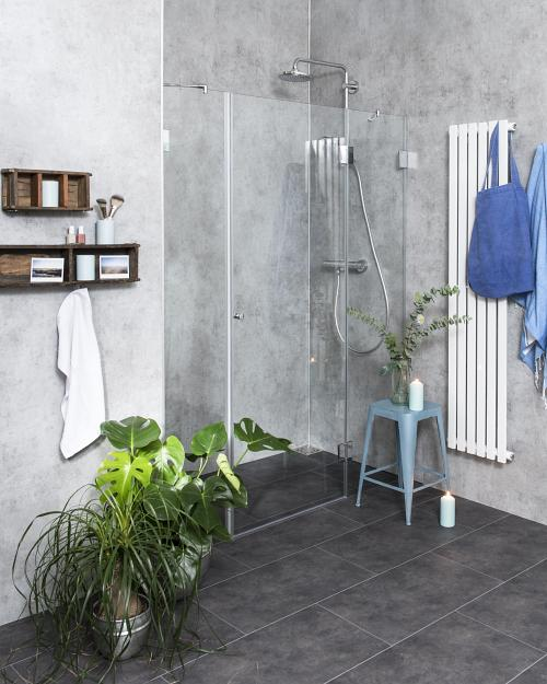 duschabtrennung f r nische ab 130 klarglas chrom h 195cm combia bxn. Black Bedroom Furniture Sets. Home Design Ideas