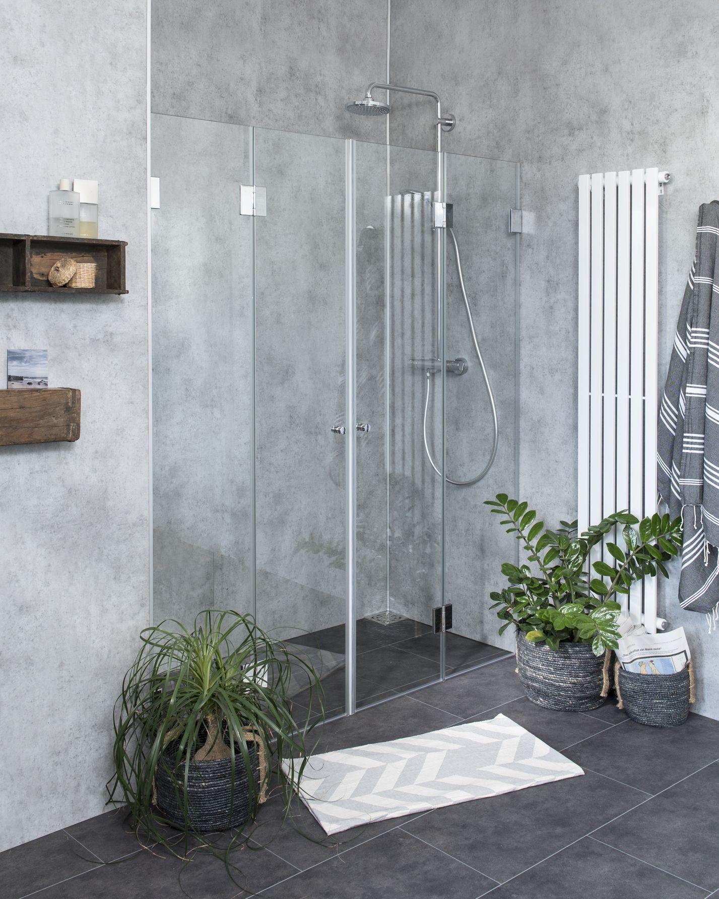 falt duschabtrennung f r nische klarglas chrom h 195cm combia a2n. Black Bedroom Furniture Sets. Home Design Ideas