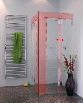 eckeinstieg duschkabine sonderma 2 t ren in glas combia. Black Bedroom Furniture Sets. Home Design Ideas
