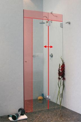 bodengleiche duschkabine duschwand fugenb ndige glas ma e 24h. Black Bedroom Furniture Sets. Home Design Ideas