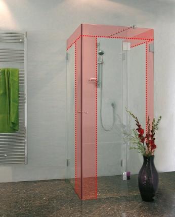 u form duschabtrennung nach ma u dusche im wunschma von combia. Black Bedroom Furniture Sets. Home Design Ideas