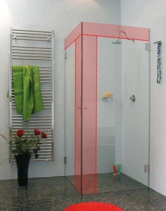 g nstige sonderma eck duschkabine aus glas von combia. Black Bedroom Furniture Sets. Home Design Ideas