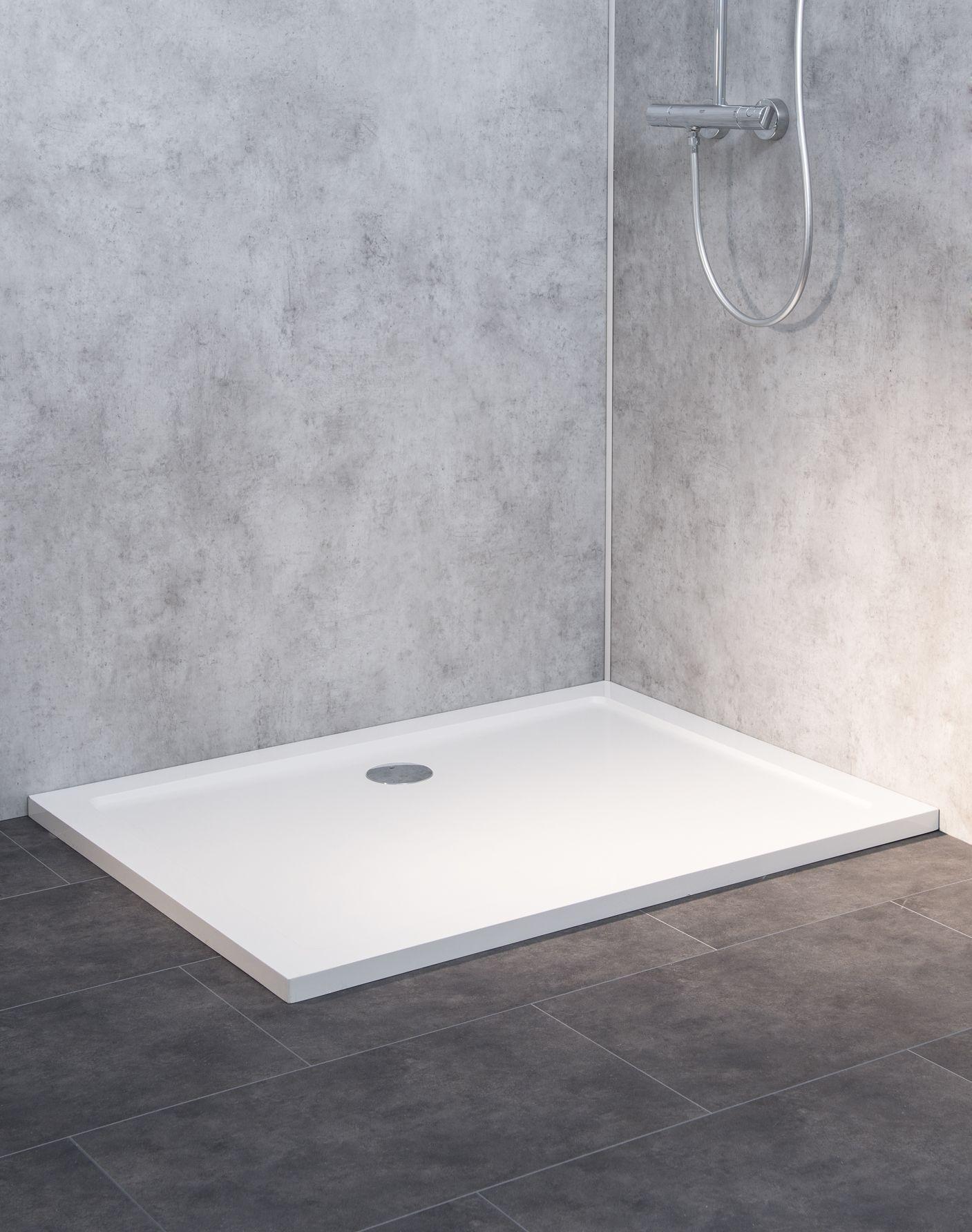duschwanne duschtasse super flach 120x90cm h 3 5cm einbau auch bodengleich mineral colorat. Black Bedroom Furniture Sets. Home Design Ideas