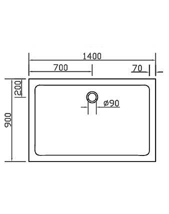 duschwanne duschtasse anti rutsch super flach 140x90cm h 3 5cm einbau auch bodengleich. Black Bedroom Furniture Sets. Home Design Ideas