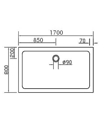 duschwanne duschtasse super flach 170x80cm h 3 5cm einbau auch bodengleich mineral colorat. Black Bedroom Furniture Sets. Home Design Ideas