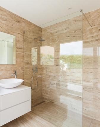 TAPX, Rahmenlose Glas Duschtrennwand Begehbare Dusche, Glas 8 Mm, Chrom