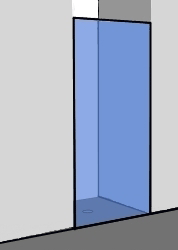 Duschtür Nische: Duschabtrennung aus Glas bis -40 ...