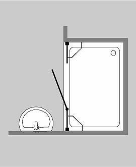 duschabtrennung f r nische ab 100 klarglas chrom h 195 combia b2n. Black Bedroom Furniture Sets. Home Design Ideas