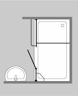duschabtrennung f r nische klarglas chrom h 195cm combia a2x. Black Bedroom Furniture Sets. Home Design Ideas