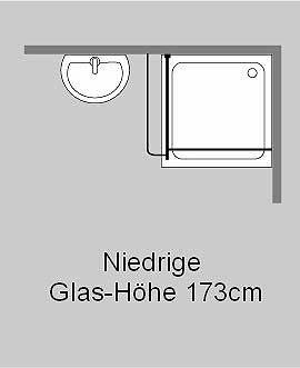 freistehende duschwand klarglas chrom h 173cm combia akpo. Black Bedroom Furniture Sets. Home Design Ideas