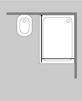 glaswand dusche mit klemm wandprofil combia papo. Black Bedroom Furniture Sets. Home Design Ideas