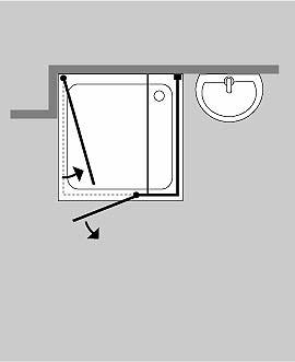 duschkabine u form freistehende u dusche mit 3 glas seiten. Black Bedroom Furniture Sets. Home Design Ideas
