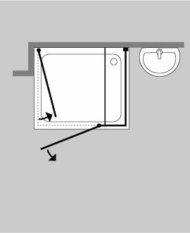 3 seiten u duschkabine klarglas chrom h 195cm combia auix. Black Bedroom Furniture Sets. Home Design Ideas