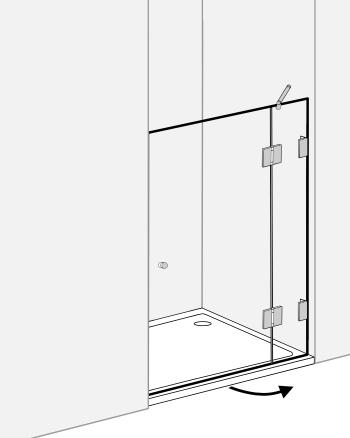 duschabtrennung f r nische klarglas chrom h 195cm combia axn. Black Bedroom Furniture Sets. Home Design Ideas
