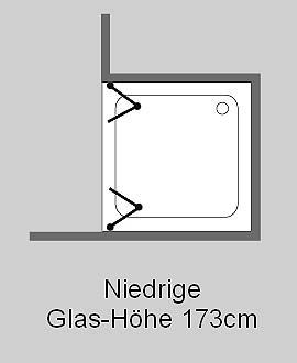 falt duschabtrennung f r nische klarglas chrom h 173cm combia fk2n. Black Bedroom Furniture Sets. Home Design Ideas