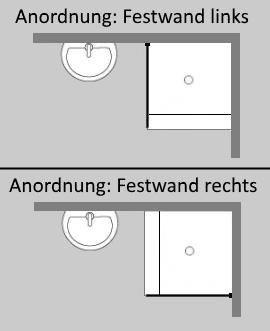 duschtrennwand sonderma aus glas rahmenlos von combia. Black Bedroom Furniture Sets. Home Design Ideas
