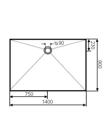 duschtasse mineralguss ebenerdig plan ohne rand von combia. Black Bedroom Furniture Sets. Home Design Ideas