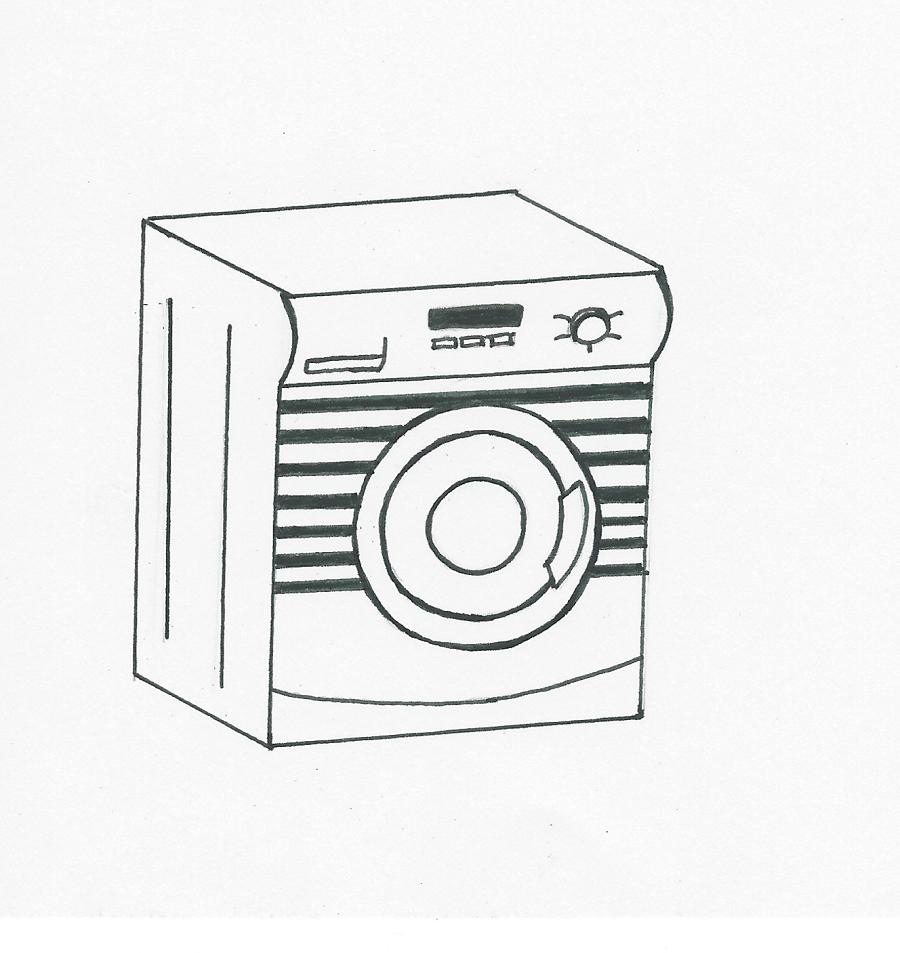 Waschmaschine Mit Streifen