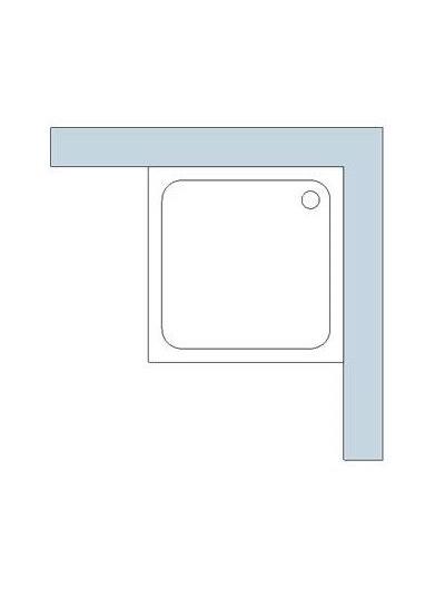 Duschwanne Quadrat