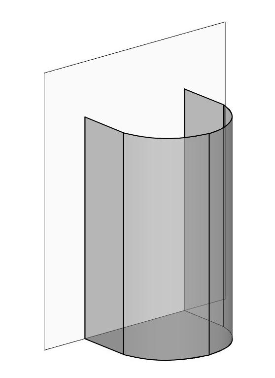 Halbkreis Duschkabine