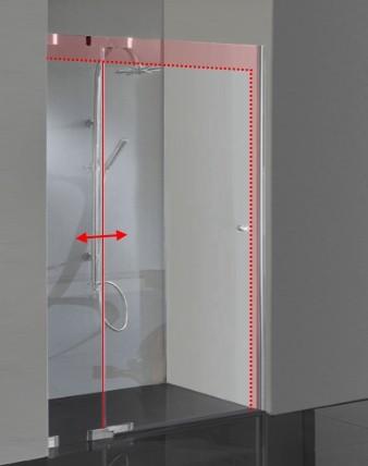 Duschtür Glas Sondermaß Hebemechanismus