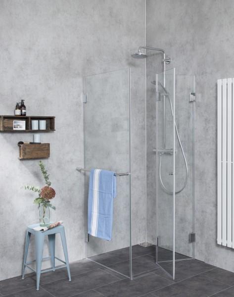 Falt-Duschkabine mit Festwand F1S