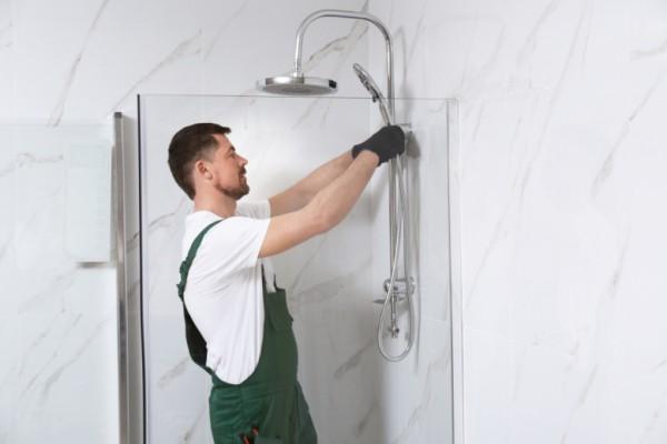 Aufmaß - Service für Dusche fertig verfliest / montagebereit