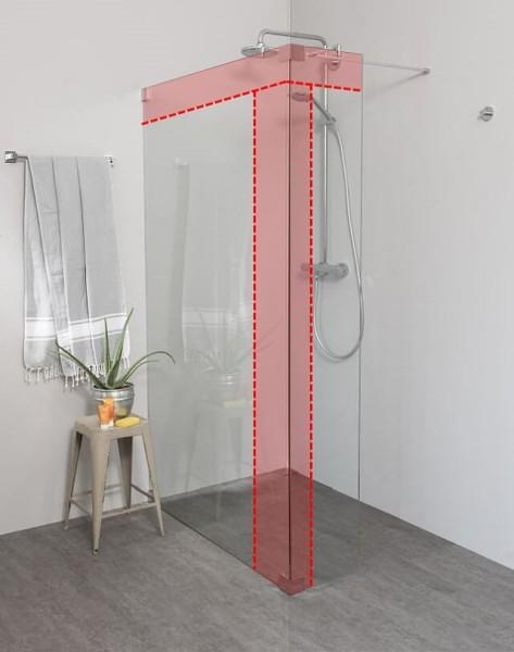 Begehbare Dusche: Walk In Duschwand über Eck, Maßanfertigung