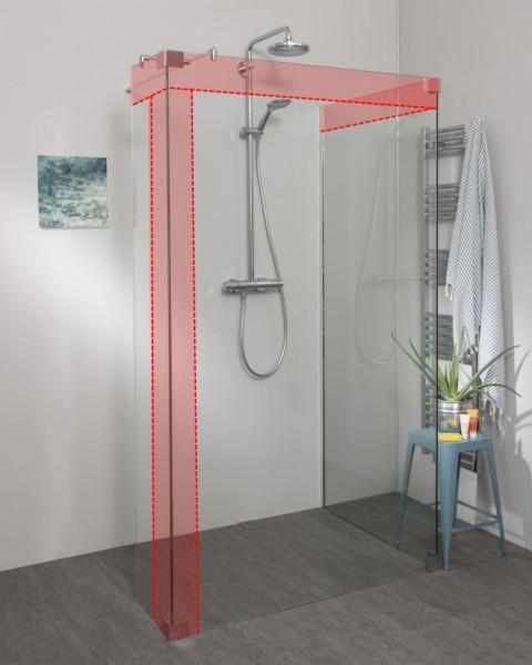 Begehbare Dusche: Walk In Duschwand nach Maß mit Wandanschlussprofil