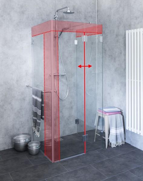 U Dusche Sondermaß aus Glas