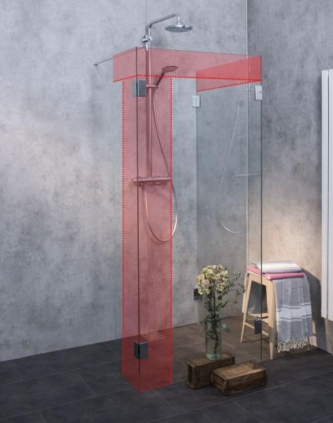 Walk-in Maß-Duschabtrennung Glas