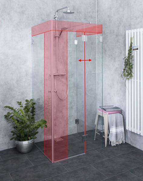 U-Form Duschabtrennung nach Maß U-Dusche im Wunschmaß