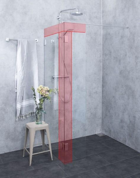 Duschwand Sondermaße Walk in Glas