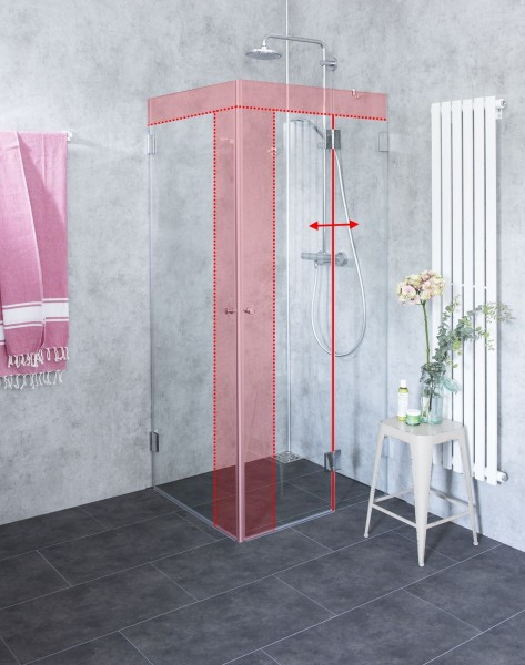 Duschkabine Eckform Glas günstige Maßanfertigung