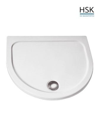 HSK Duschwanne halbrund 110x90cm H=3,5cm Acryl weiß