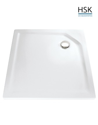 HSK Duschwanne quadratisch 100x100cm H=3,5cm Acryl weiß