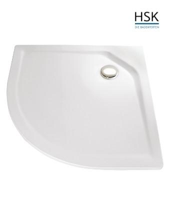 HSK Duschwanne Viertelkreis 100x100cm H=3,5cm Acryl weiß