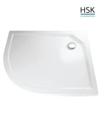 HSK Duschwanne Viertelkreis 90x75cm asymmetrisch rechts H=3,5cm Acryl weiß