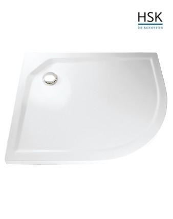 HSK Duschwanne Viertelkreis 75x90cm asymmetrisch links H=3,5cm Acryl weiß