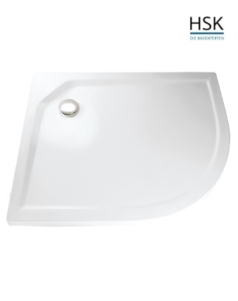 HSK Duschwanne 90x120cm ungleichschenklig links H=3,5cm Acryl weiß