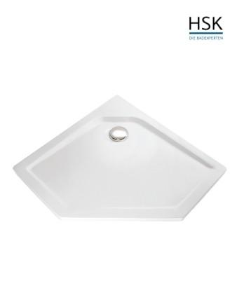 HSK Duschwanne Fünfeck 90x90cm H=3,5cm Acryl weiß
