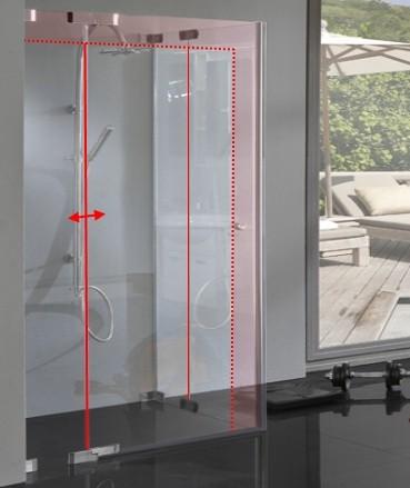 Duschkabine Glas Sondermaß Pendel Schwingtür
