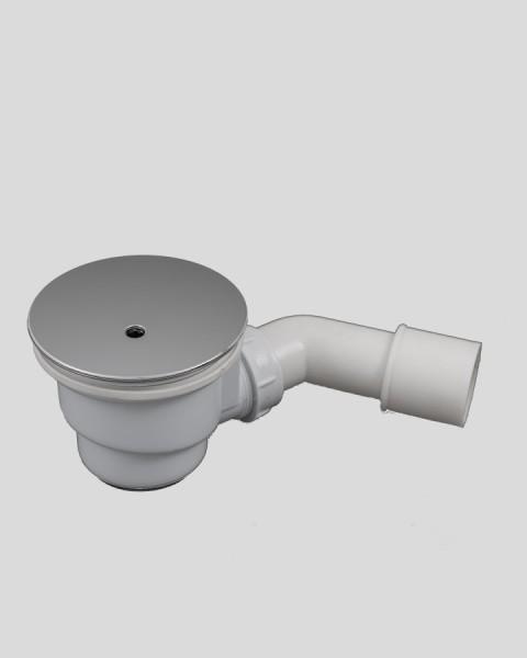 Ablauf-Garnitur Siphon chromfarben für Duschwannen-Ablauf D=90mm
