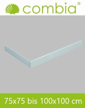 Schürze für Duschwanne weiß Rechteck 100x100cm