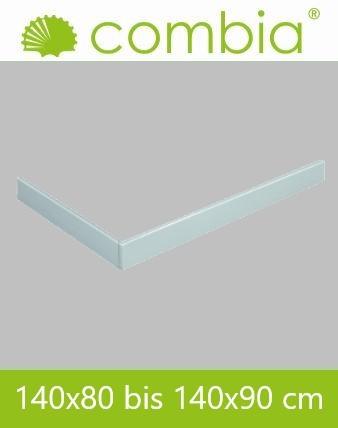 Schürze für Duschwanne weiß Rechteck 140x90cm