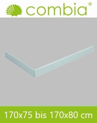 Schürze für Duschwanne weiß Rechteck 170x80cm
